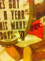 Santa Joyful Christmas Wooden Primitive Countdown Calendar from 31 Days image 5