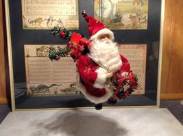 Santa with Presents Wreath Fabric Coat Ornament image 2