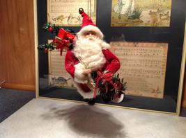 Santa with Presents Wreath Fabric Coat Ornament image 3