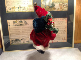 Santa with Presents Wreath Fabric Coat Ornament image 4