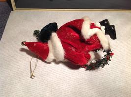 Santa with Presents Wreath Fabric Coat Ornament image 5