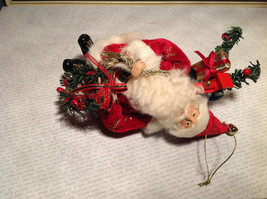 Santa with Presents Wreath Fabric Coat Ornament image 7