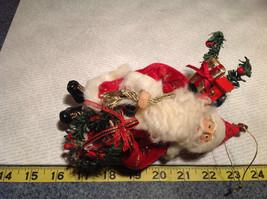 Santa with Presents Wreath Fabric Coat Ornament image 8