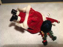 Santa with Presents Wreath Fabric Coat Ornament image 6