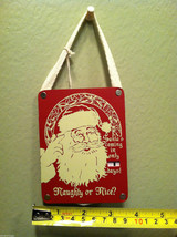 Santa's Coming in Only _ Days Christmas Countdown Hanging Wall Decor vintage red image 4