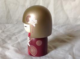 Satoko Sincerity Gold Hair Maroon Dress Flower Kimmi Maxi Doll Asian Style image 2