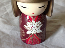 Satoko Sincerity Gold Hair Maroon Dress Flower Kimmi Maxi Doll Asian Style image 7