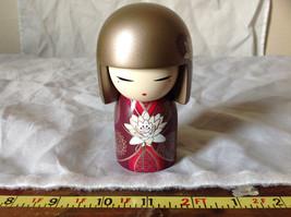Satoko Sincerity Gold Hair Maroon Dress Flower Kimmi Maxi Doll Asian Style image 9