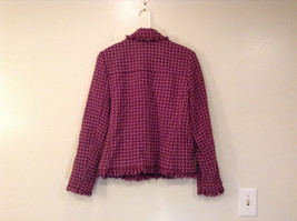 Savvy by Rafael Pink Violet Fully Lined Jacket Size 10 Faux Pockets image 2