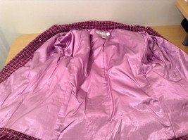 Savvy by Rafael Pink Violet Fully Lined Jacket Size 10 Faux Pockets image 9