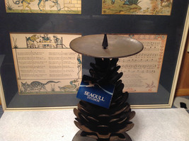 Seagull Studios Metal Pine Cone Tree Candle Holder image 3