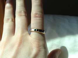Segmented Design Silver and Gold Plated Ring Size 7,8 image 4