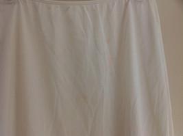 Sears Long Length Cream Slip Lace Design at Bottom Elastic Waistband Size Medium image 5