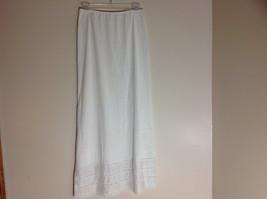 Sears Long Length Cream Slip Lace Design at Bottom Elastic Waistband Size Medium image 6