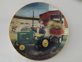 """Set of 2 Danbury Mint Collector's Plates """"Clean and Shiny"""" and """"Pitching In"""" image 4"""