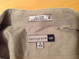 Savile Row Gray Easy Care Classic Shirt, Size 16 (34/35) image 7