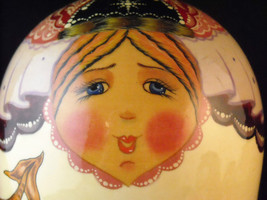Set of 10 Large Russian Nesting Doll Lacquered Wood folk tale scenes  Shebabonof image 4