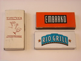 Set of 10 matchbooks or boxes from San Francisco Bay Area, Northern California image 5