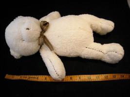 Set of 3 White Stuffed Bear Toys image 2
