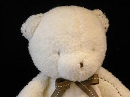 Set of 3 White Stuffed Bear Toys image 4