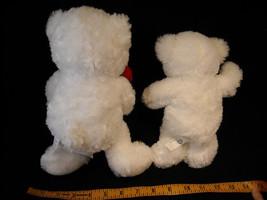 Set of 3 White Stuffed Bear Toys image 8