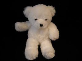 Set of 3 White Stuffed Bear Toys image 7