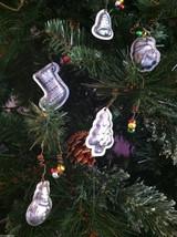 Set of 6 Christmas Themed Mini Mold Ornaments image 4
