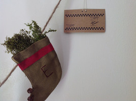 Seven Hanging Christmas Stocking Ornaments BELIEVE Garland image 2