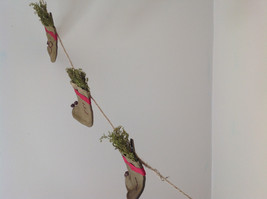 Seven Hanging Christmas Stocking Ornaments BELIEVE Garland image 5