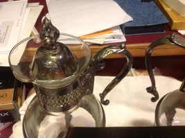 Set of two vintage silverplate serving coffee and tea carafes image 7