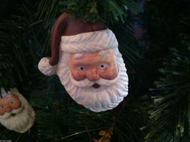 Set of 6 Santa Head Christmas Ornaments with flat back image 4