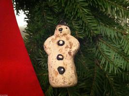 Set of 6 Vintage Looking Rustic Snowmen Christmas Ornaments image 4