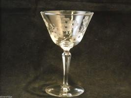 Set of 6 vintage cocktail Glasses copper wheel engraved image 2