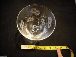 Set of 6 vintage cocktail Glasses copper wheel engraved image 5