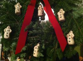Set of 6 Vintage Looking Rustic Snowmen Christmas Ornaments image 3