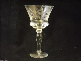 Set of 9 small wine or large liquor glasses copper wheel design leaves berries image 3