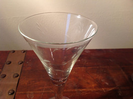 Set of Five Tall Champagne Glass Stemware Cooper Wheel Engraving High Quality image 4