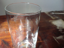 Set of Eight Clear Tall Water Glasses with Copper Wheel Engraving image 2