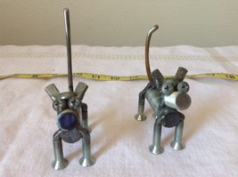 Set of Two Dogs Made of Screws image 2