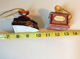 Set of Two Vintage Ornaments Iron and Mugicale Old Fashion Musical Player image 8