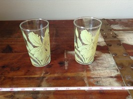 Set of Two Very Nice Clear Glasses IRIS overlay vintage image 2