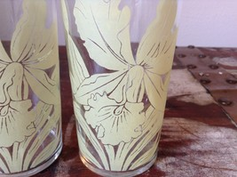 Set of Two Very Nice Clear Glasses IRIS overlay vintage image 3