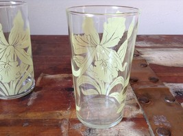 Set of Two Very Nice Clear Glasses IRIS overlay vintage image 5