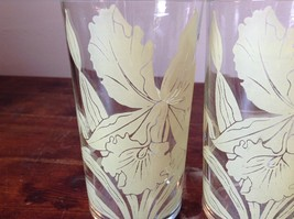 Set of Two Very Nice Clear Glasses IRIS overlay vintage image 4