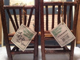 Set of Two Miniature Log Chairs Tags Attached image 9