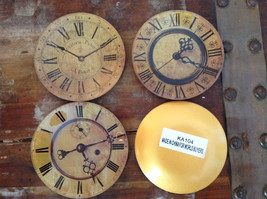Set of Four Vintage Clock Face Glass Trays Roman Numeral Numbers image 7