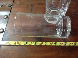 Seven Piece Set of Short Water Glasses Handmade Copper Wheel Engraving image 5