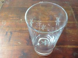 Seven Piece Set of Short Water Glasses Handmade Copper Wheel Engraving image 3