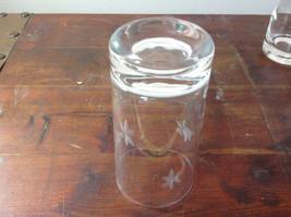 Seven Piece Set of Short Water Glasses Handmade Copper Wheel Engraving image 4