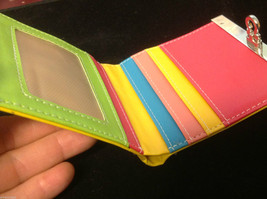 Shiny patent summer candy bow yellow wallet in multi inside colors image 3
